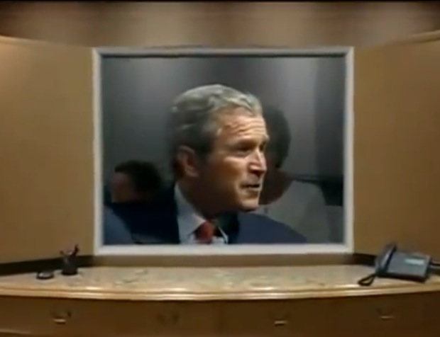 Past President George Bush extols virtues of corporate ethics