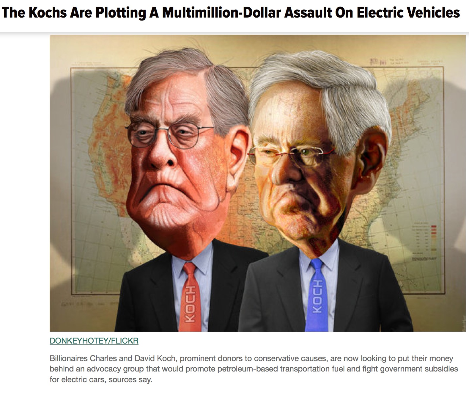 Koch brothers, Satan and the old world